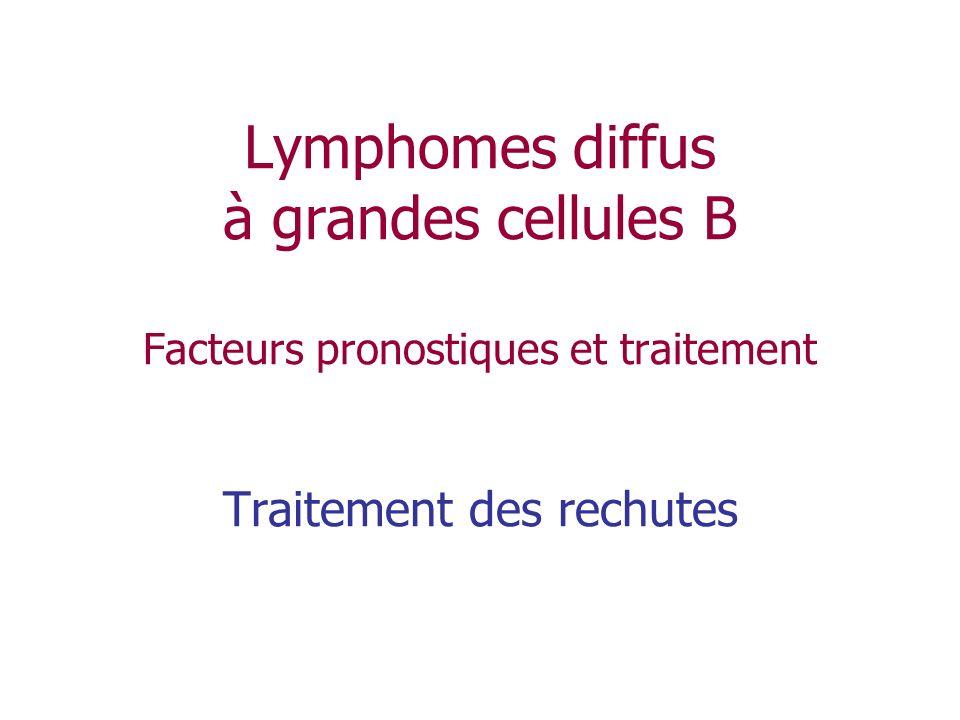 Lymphomes diffus à grandes cellules B Facteurs pronostiques et traitement Traitement des rechutes