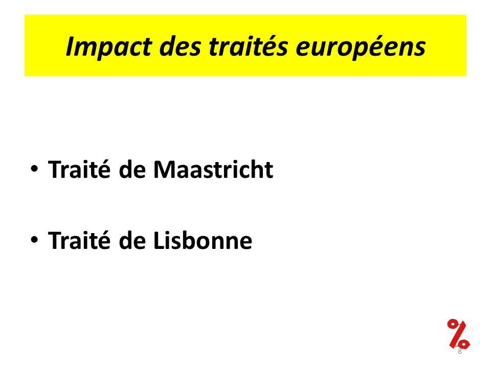 Impact des traités européens Traité de Maastricht Traité de Lisbonne 8