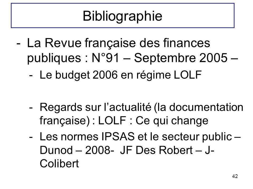 42 -La Revue française des finances publiques : N°91 – Septembre 2005 – -Le budget 2006 en régime LOLF -Regards sur lactualité (la documentation franç