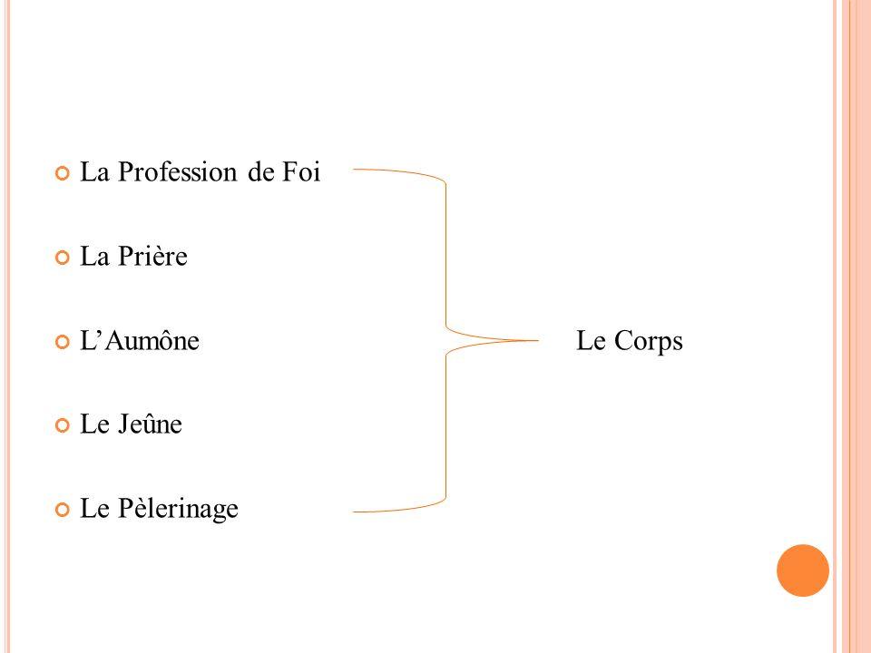 La Profession de Foi La Prière LAumône Le Corps Le Jeûne Le Pèlerinage