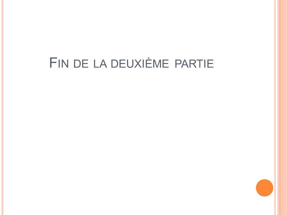 F IN DE LA DEUXIÈME PARTIE