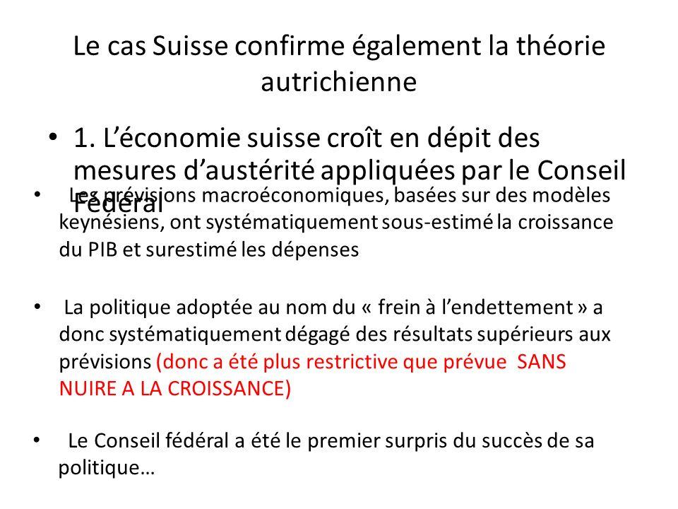 Le cas Suisse confirme également la théorie autrichienne 1.