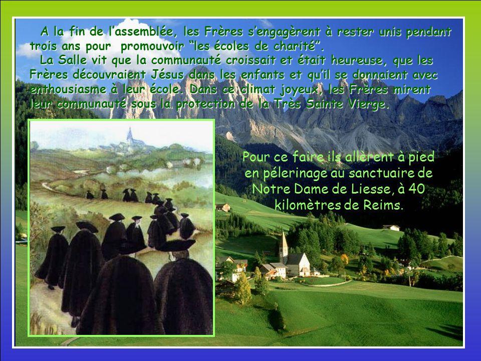 Au printemps 1686, Jean-Baptise réunit ses compagnons en assemblée. Il leur proposa de former une communauté où chacun se sente aimé et valorisé par l