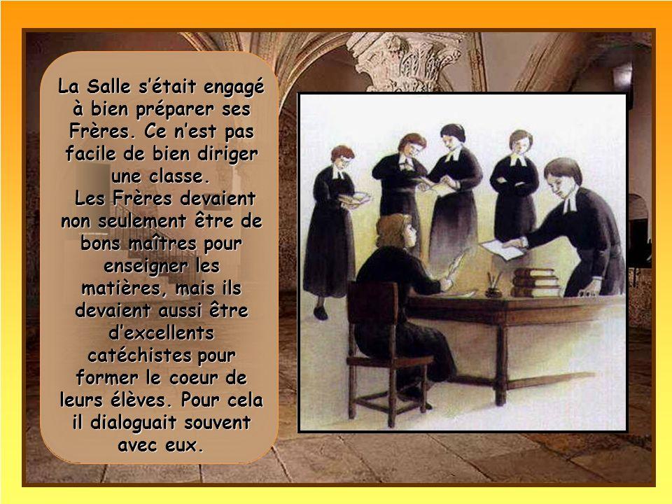 A la fin de lassemblée, les Frères sengagèrent à rester unis pendant trois ans pour promouvoir les écoles de charité.