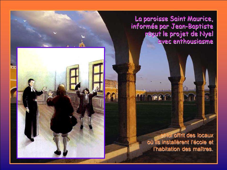 Nyel raconta à Jean-Baptiste ses projets: Je suis venu à Reims ouvrir une école pour les enfants pauvres.