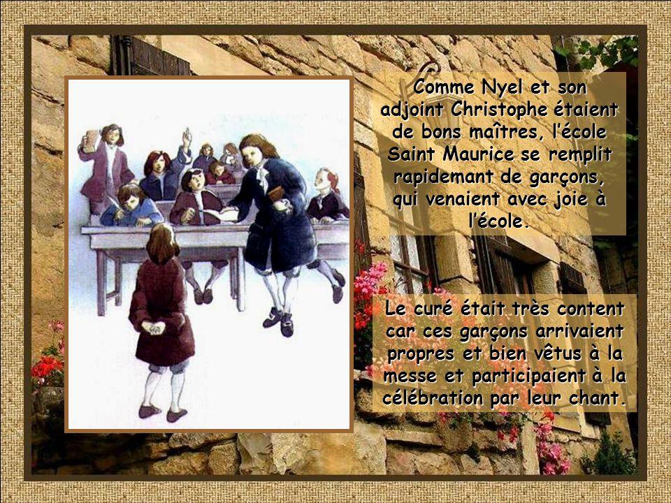 Mme Maillefer, protectrice de Nyel, était une grande dame de la société de Rouen. Elle était de la parenté des de La Salle. On dit que par une froide