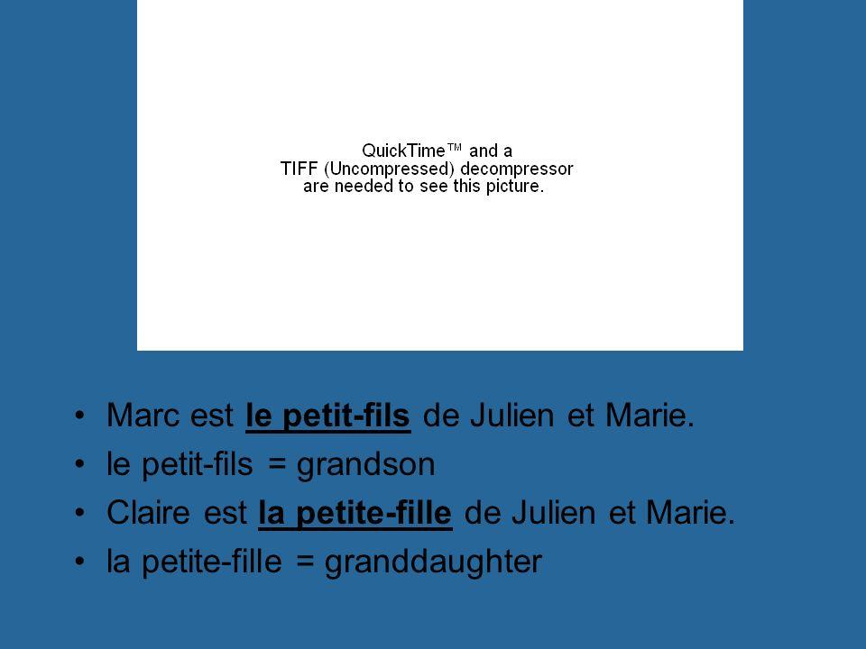 Marc est le petit-fils de Julien et Marie.