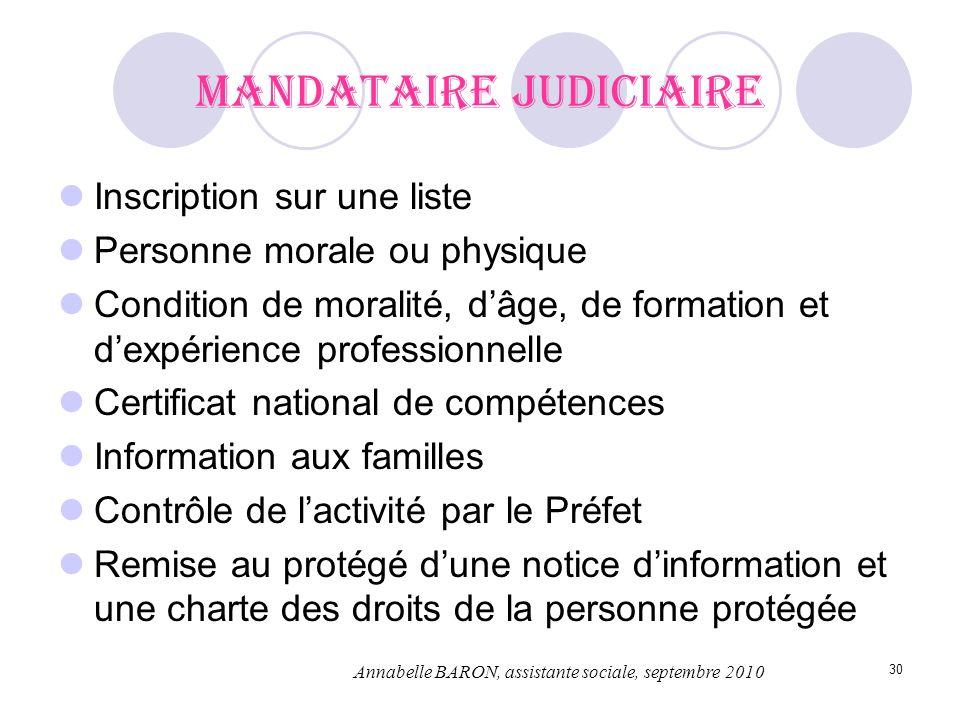 30 Mandataire judiciaire Inscription sur une liste Personne morale ou physique Condition de moralité, dâge, de formation et dexpérience professionnell