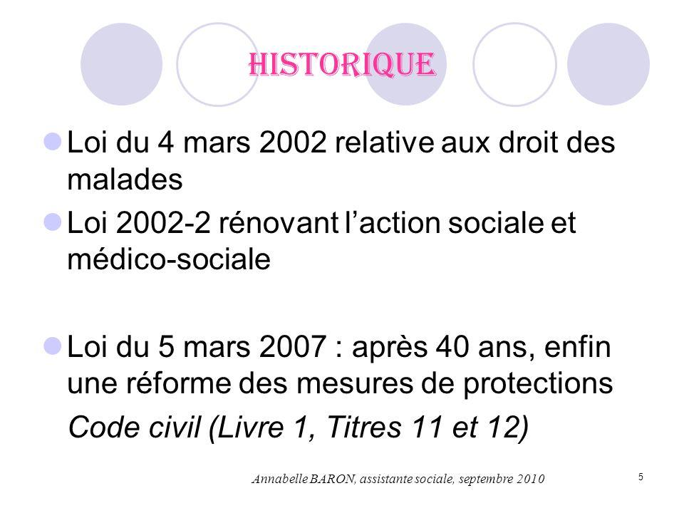 5 Historique Loi du 4 mars 2002 relative aux droit des malades Loi 2002-2 rénovant laction sociale et médico-sociale Loi du 5 mars 2007 : après 40 ans