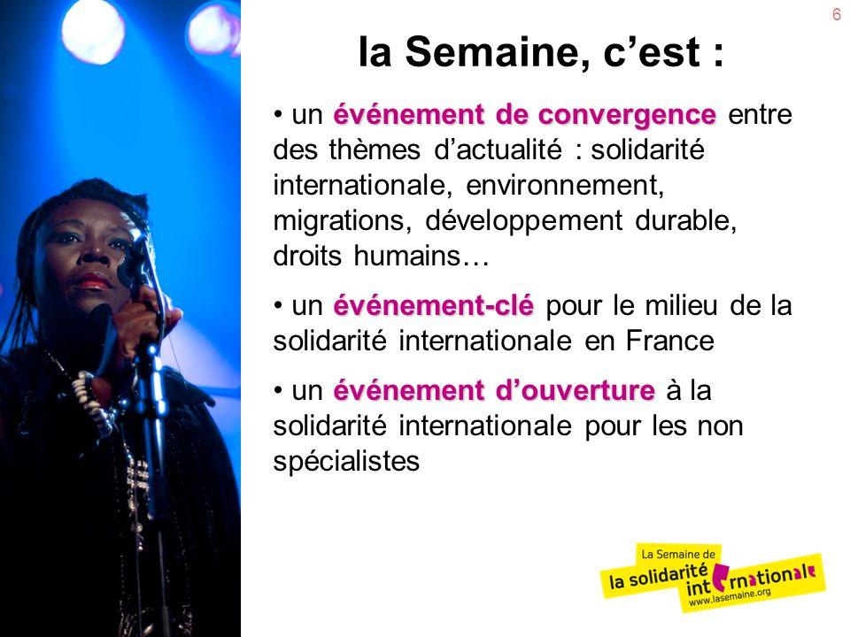 6 événement deconvergence un événement de convergence entre des thèmes dactualité : solidarité internationale, environnement, migrations, développemen