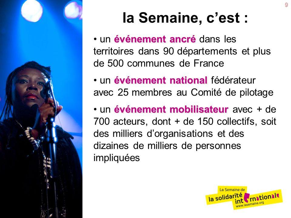 9 la Semaine, cest : événement ancré un événement ancré dans les territoires dans 90 départements et plus de 500 communes de France événement national