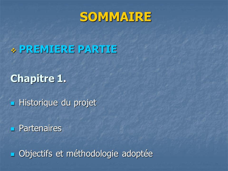 SOMMAIRE SOMMAIRE PREMIERE PARTIE PREMIERE PARTIE Chapitre 1.