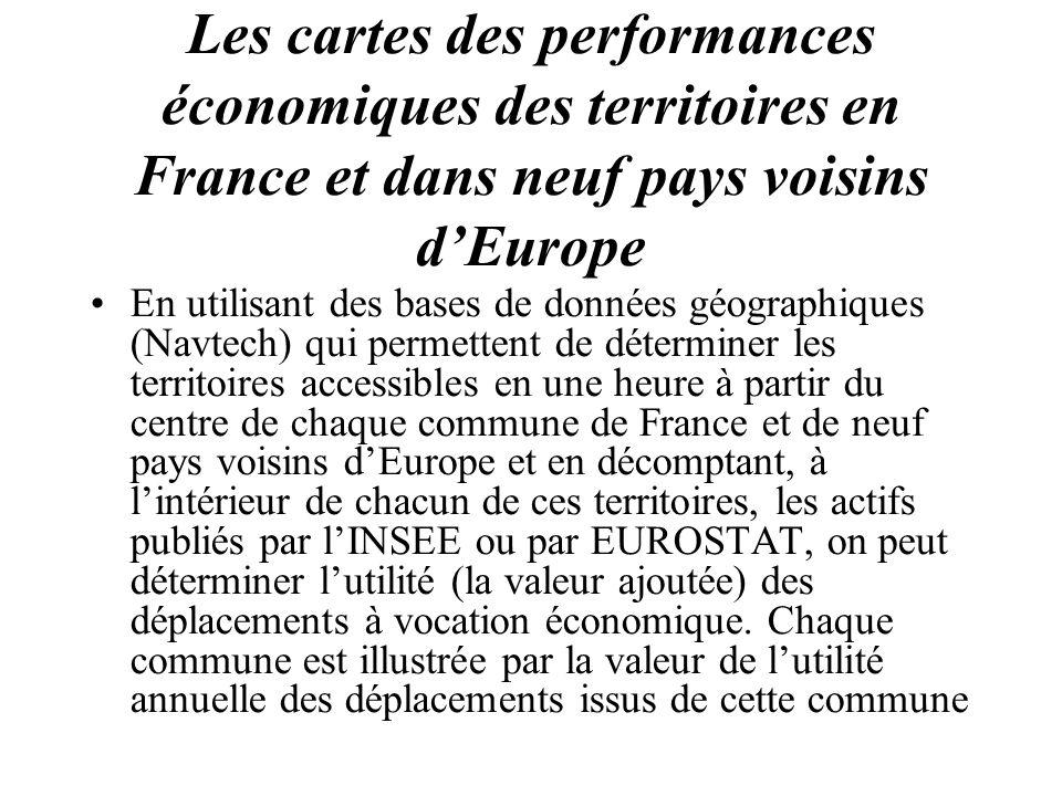 Les cartes des performances économiques des territoires en France et dans neuf pays voisins dEurope En utilisant des bases de données géographiques (N