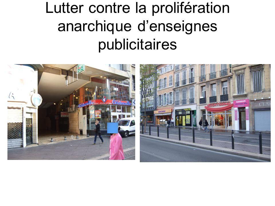Lutter contre la prolifération anarchique denseignes publicitaires