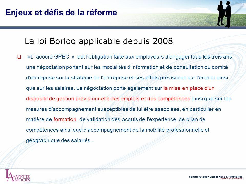 Enjeux et défis de la réforme «L accord GPEC » est lobligation faite aux employeurs d'engager tous les trois ans une négociation portant sur les modal