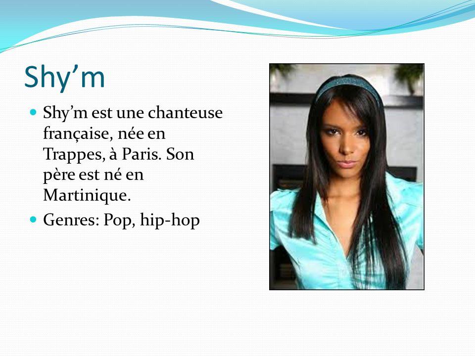 Shym Shym est une chanteuse française, née en Trappes, à Paris.