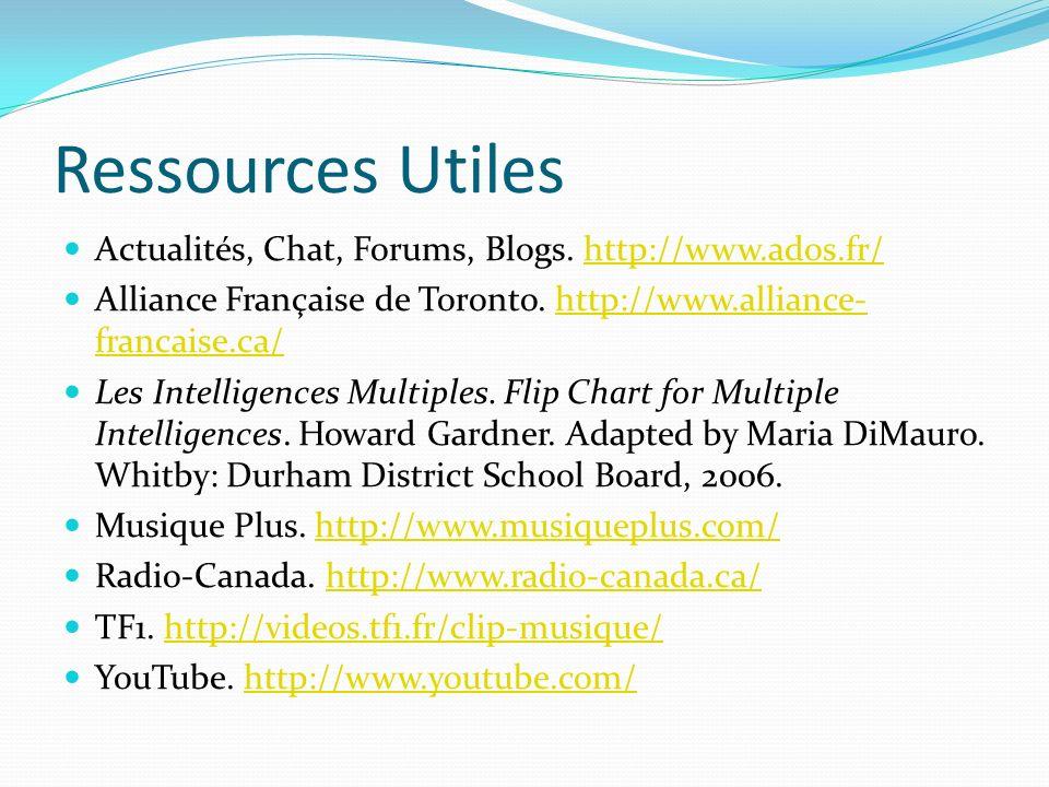 Ressources Utiles Actualités, Chat, Forums, Blogs.