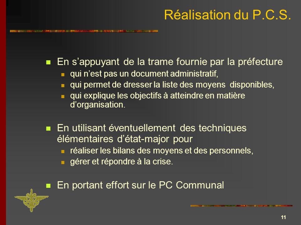 12 Effort sur le PC communal Anticiper.Informer. Organiser.