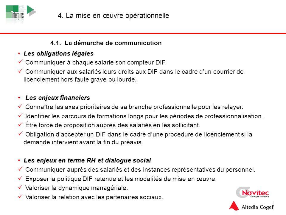 13 Les obligations légalesLes obligations légales Communiquer à chaque salarié son compteur DIF. Communiquer aux salariés leurs droits aux DIF dans le