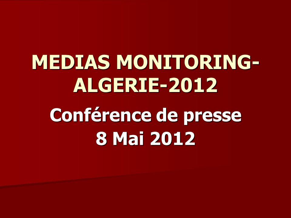 MEDIAS MONITORING- ALGERIE-2012 Conférence de presse 8 Mai 2012