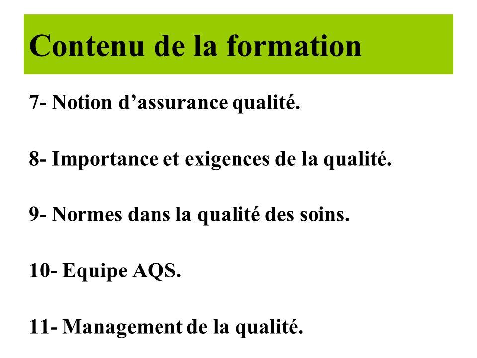 1- Historique. 2- Concepts de la qualité. 3- Dimensions et composantes. 4- Qualité et coût. 5- La demarche qualité. 6- Les fondamentaux de la qualité.