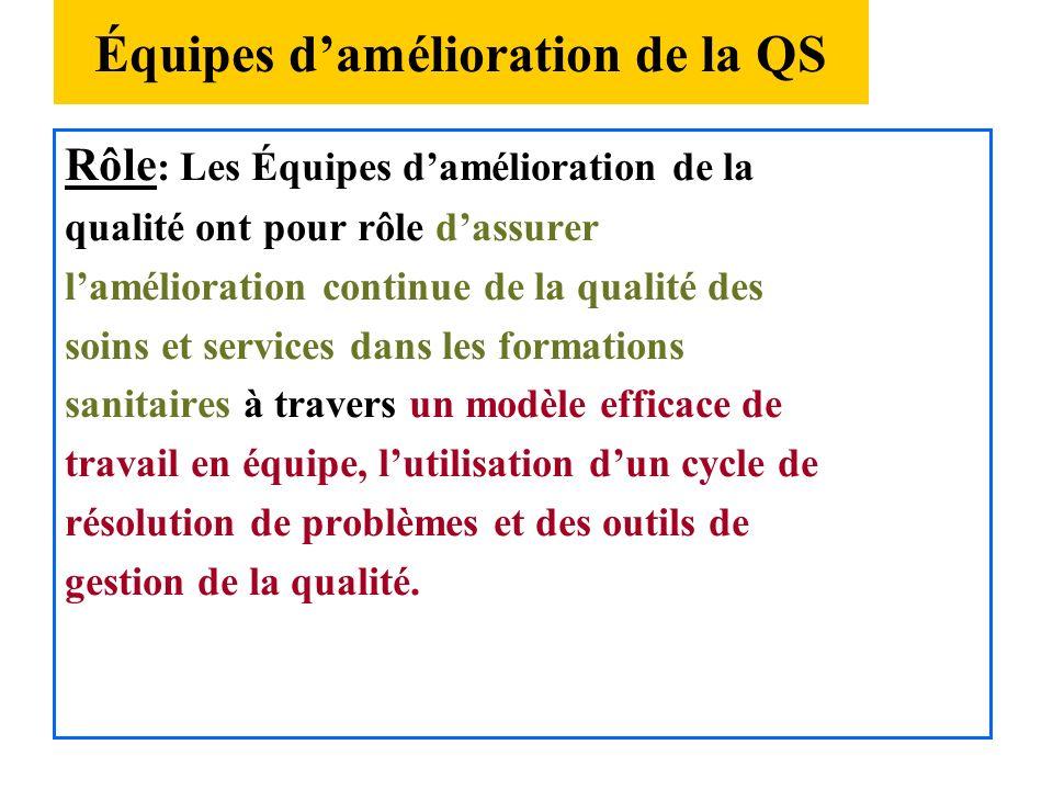 Structures organisationnelles( suite) Conseil National dassurance de qualité Conception Normative, stratégique, organisationnelle Conseil Régional/ dé