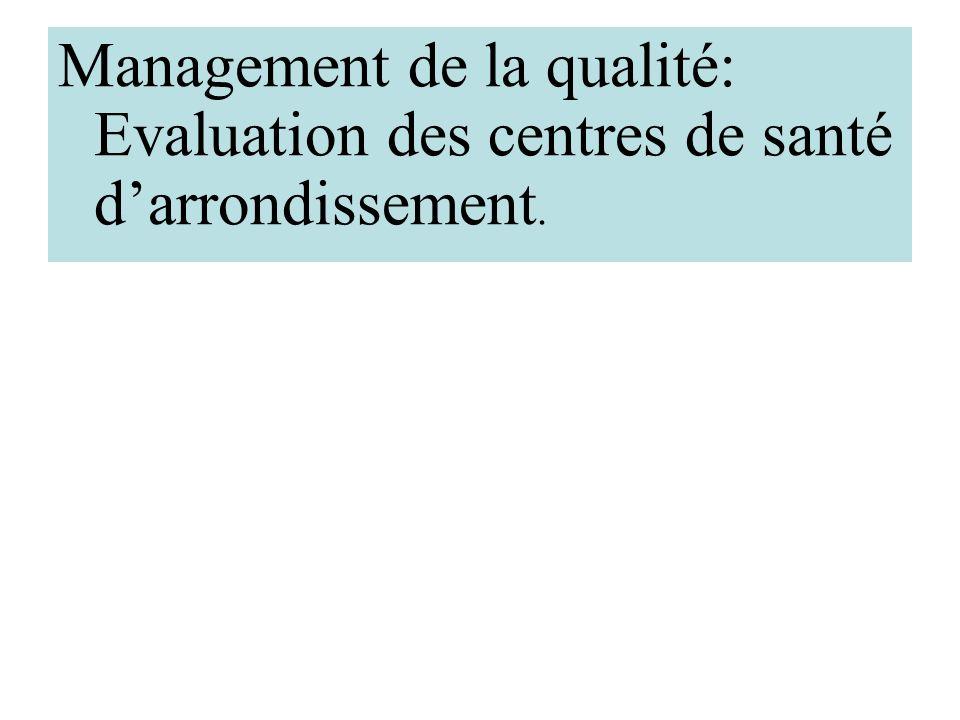 Le management total de la qualité C'est une approche damélioration de la qualité basée sur un processus de gestion coordonné par la direction qui véri