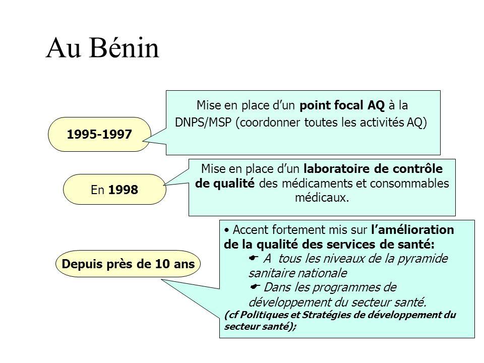 la 45 ème session du Comité régional de l'OMS- Afrique à Libreville en 1995 et à la réunion régionale de la même organisation en novembre de l'année s