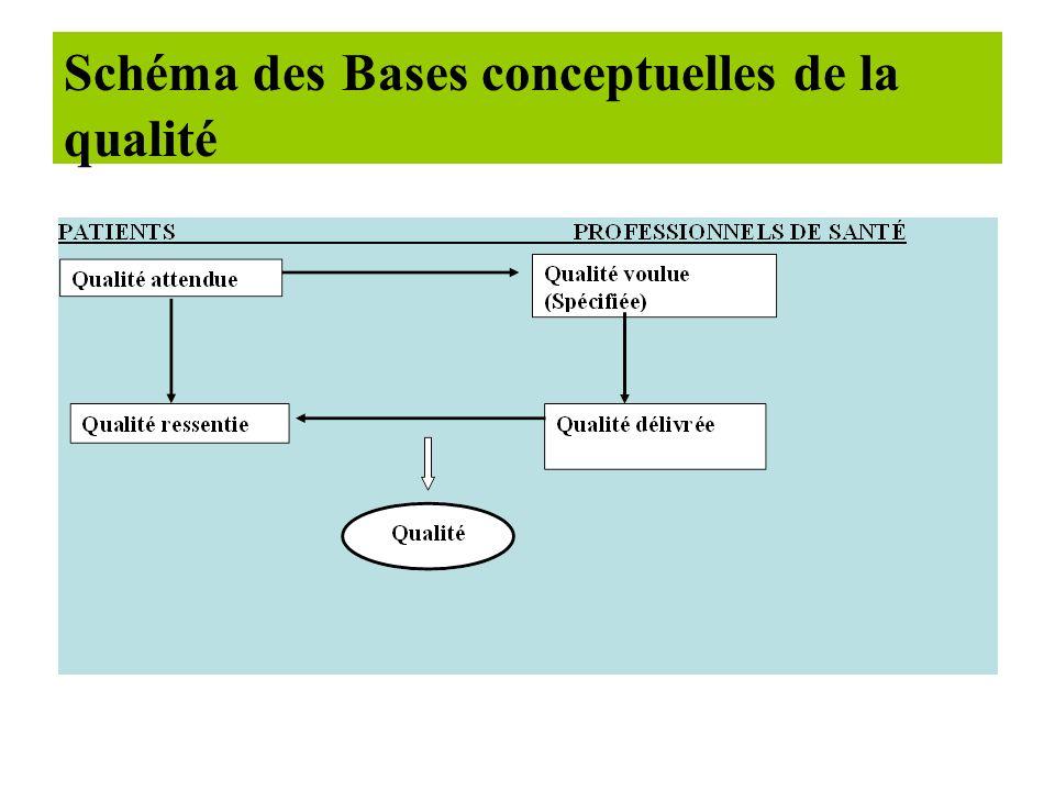Les bases conceptuelles de la qualité. L'incitation à la mesure de la satisfaction des patients a progressivement introduit leur point de vue dans l'a