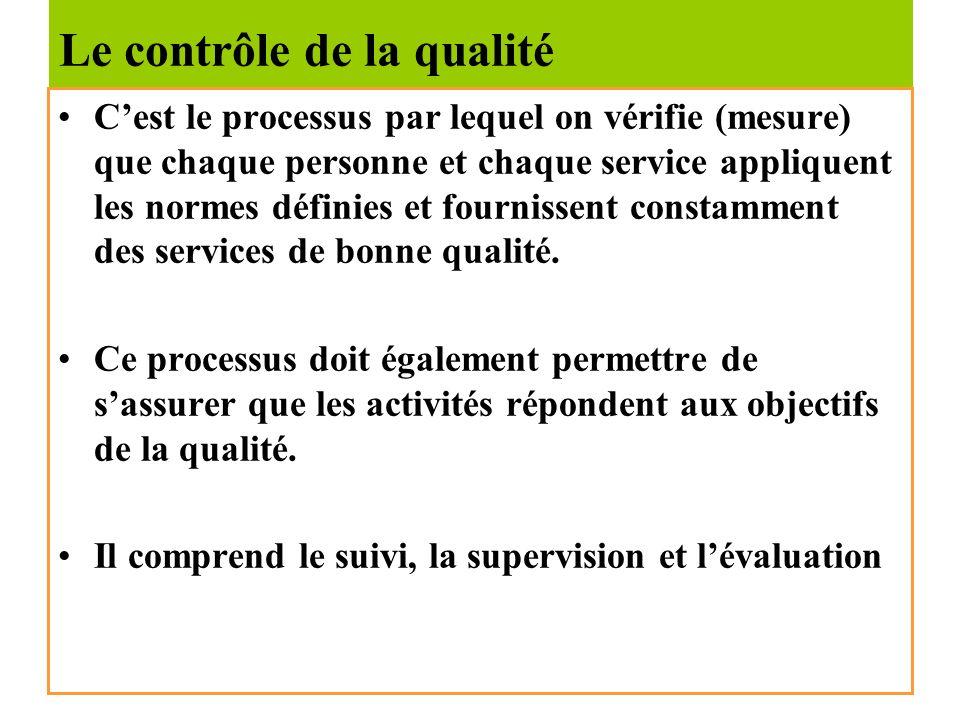 La conception de la qualité Cest le processus par lequel on planifie la mise en œuvre de lassurance qualité. Ce processus définit la mission de lorgan