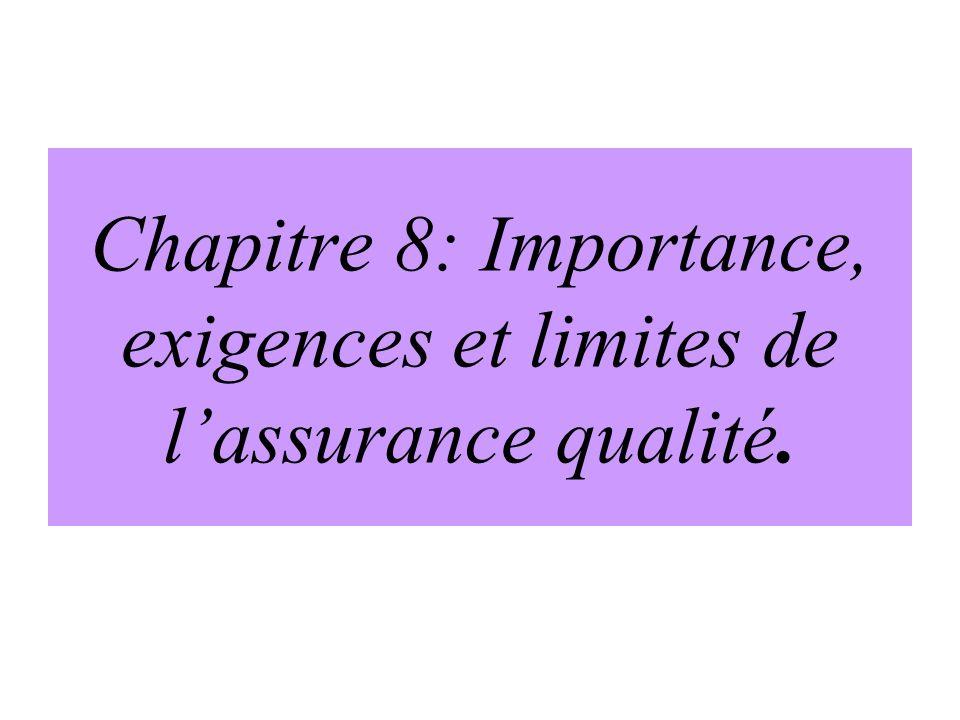 The Quality Assurance Project, 1993 Lassurance de qualité est lensemble des activités entreprises pour mettre en place des normes et un processus de s