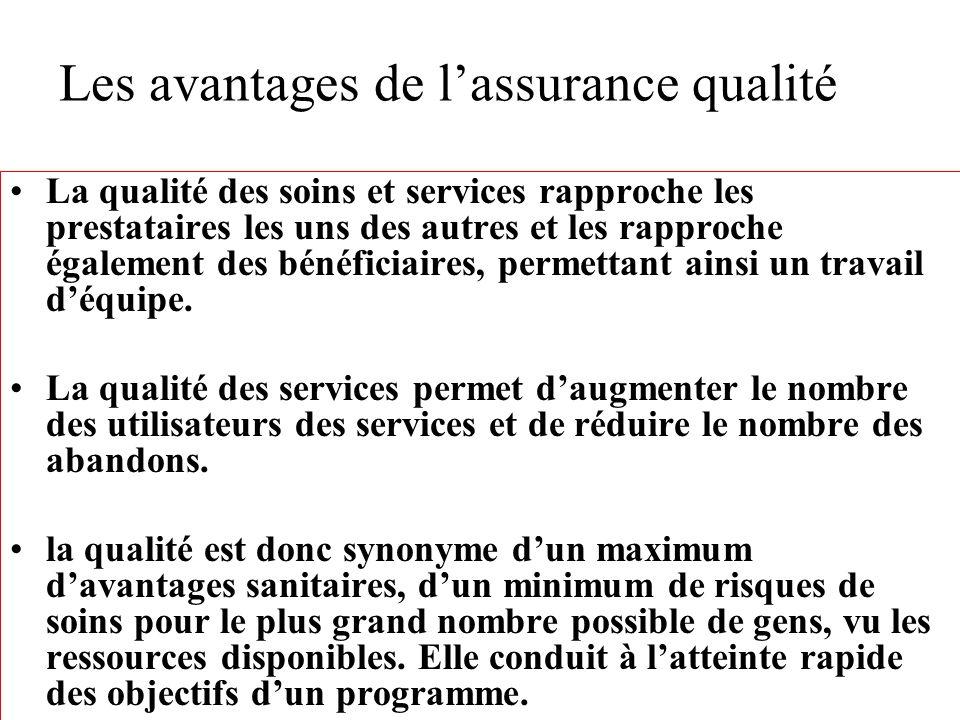 Chapitre 8: Importance, exigences et limites de lassurance qualité.