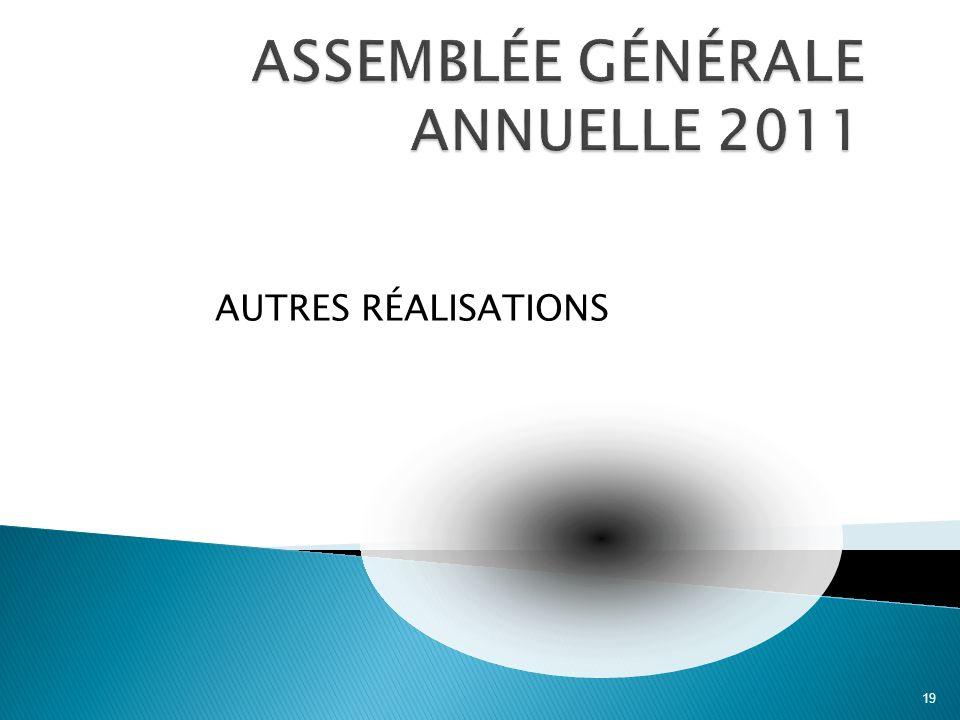 AUTRES RÉALISATIONS 19