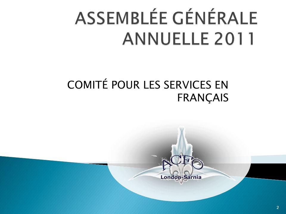 COMITÉ POUR LES SERVICES EN FRANÇAIS 2