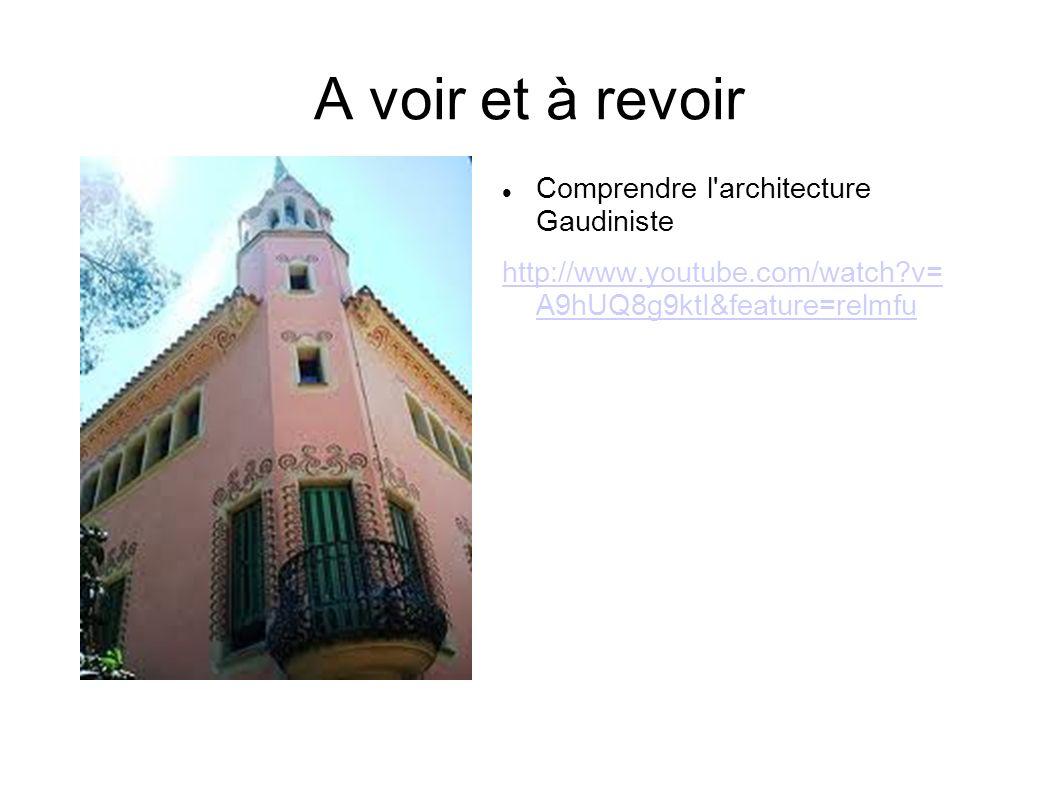 A voir et à revoir Comprendre l'architecture Gaudiniste http://www.youtube.com/watch?v= A9hUQ8g9ktI&feature=relmfu