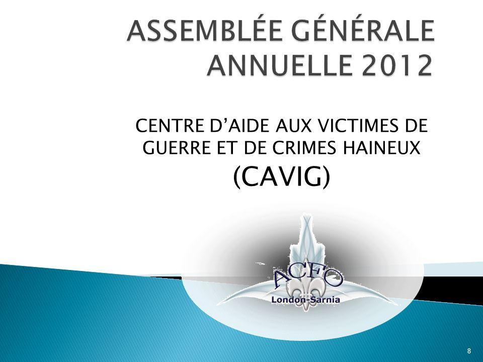 CENTRE DAIDE AUX VICTIMES DE GUERRE ET DE CRIMES HAINEUX (CAVIG) 8