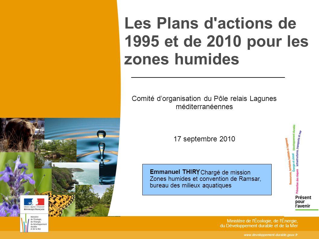 www.developpement-durable.gouv.fr Ministère de l'Écologie, de l'Énergie, du Développement durable et de la Mer Les Plans d'actions de 1995 et de 2010