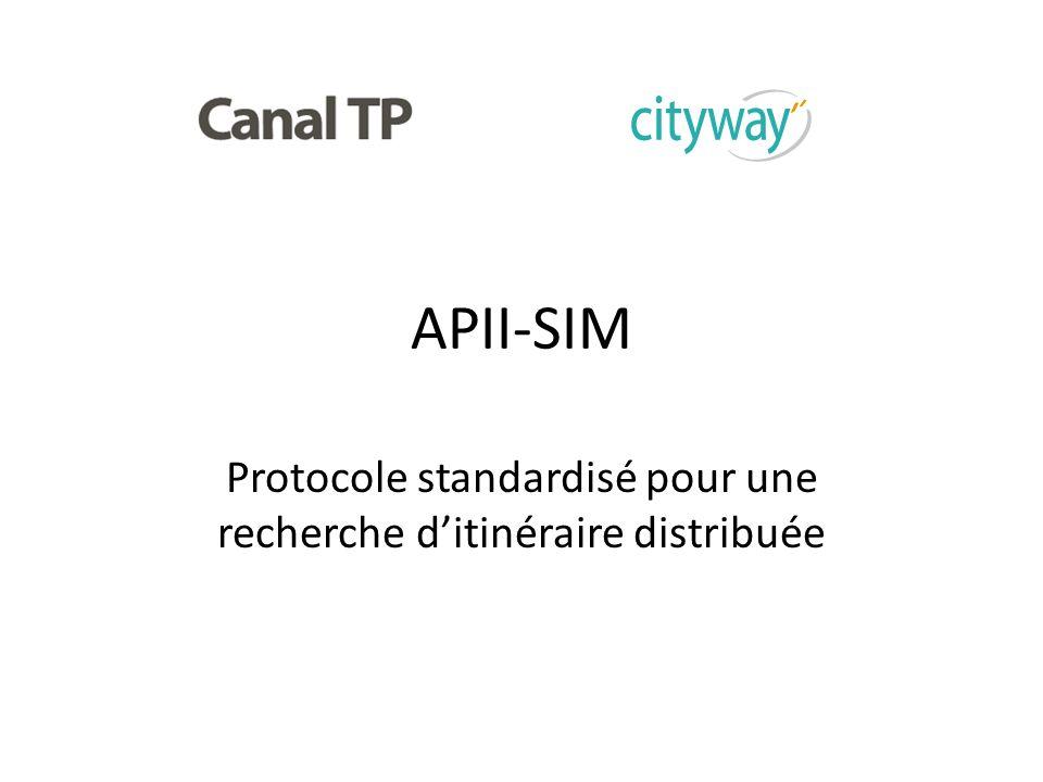 APII-SIM Protocole standardisé pour une recherche ditinéraire distribuée