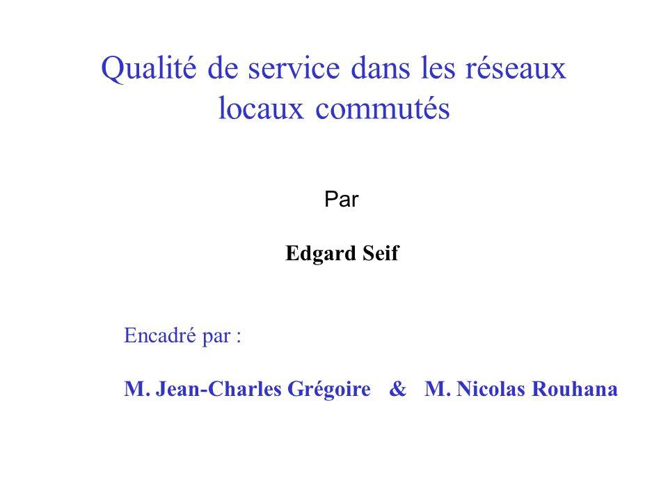 Qualité de service dans les réseaux locaux commutés Encadré par : M.