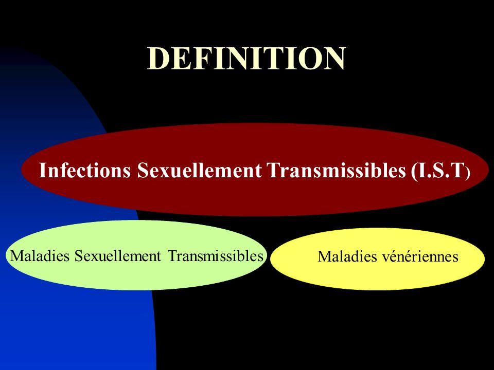 Maladies infectieuses, contagieuses Etiologies très diverses : Bactéries, Virus, Champignons, Parasites Expressions cliniques variées Propagation entre personnes par contact sexuel
