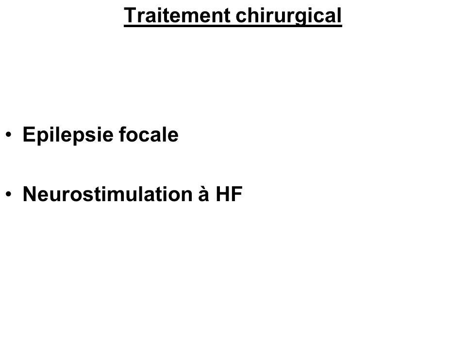 Traitement chirurgical Epilepsie focale Neurostimulation à HF