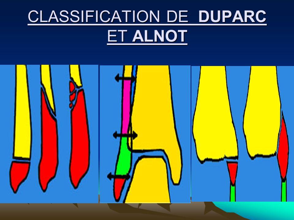 CLASSIFICATION DE DUPARC ET ALNOT