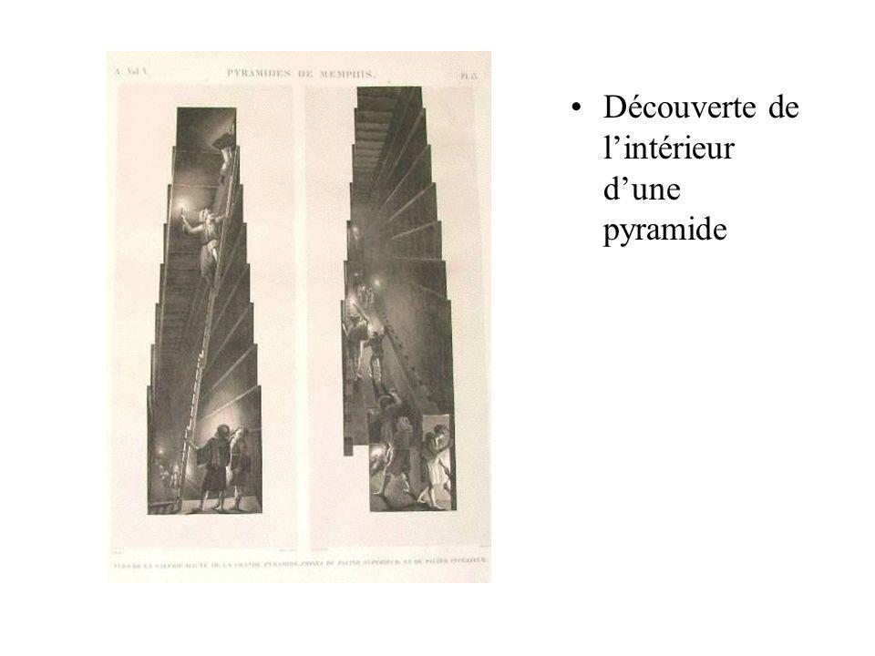 Découverte de lintérieur dune pyramide