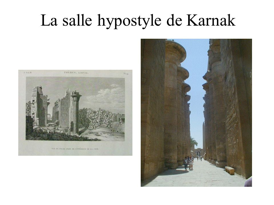 La salle hypostyle de Karnak