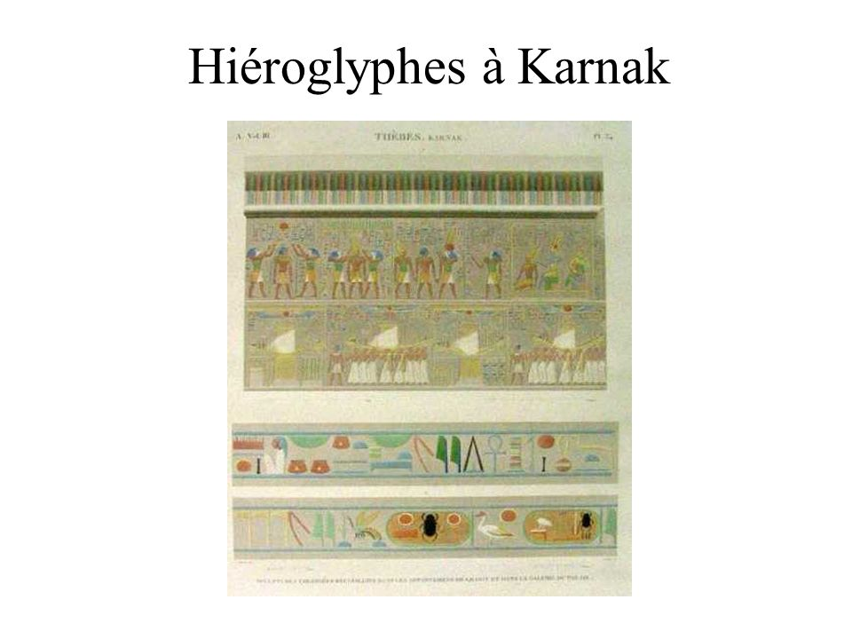 Hiéroglyphes à Karnak