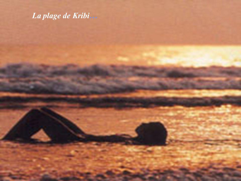 La plage de Kribi…