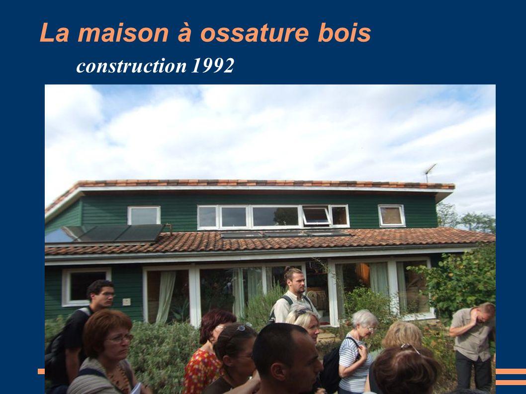 La maison à ossature bois construction 1992