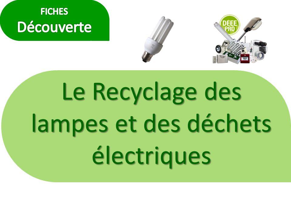 Le Recyclage des lampes et des déchets électriques