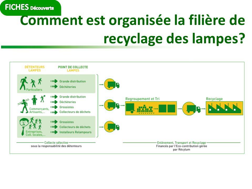 Comment est organisée la filière de recyclage des lampes?