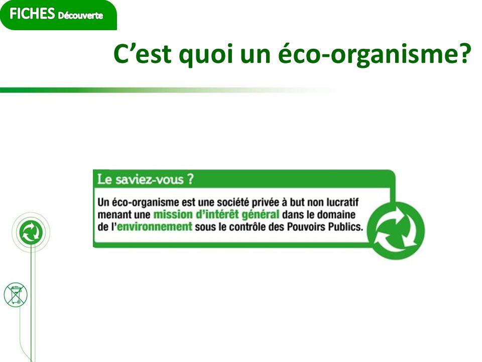 Cest quoi un éco-organisme?